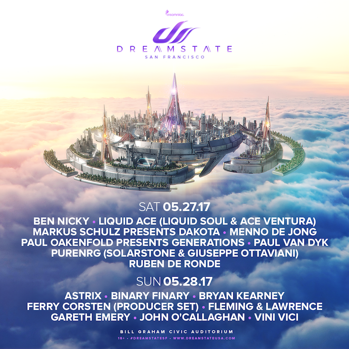 Dreamstate SF 2017 - lineup